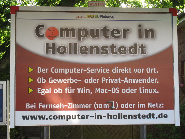 Plakat Computer in Hollenstedt